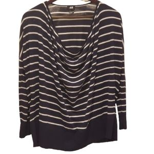H&M black and white striped sweater Size XS/S